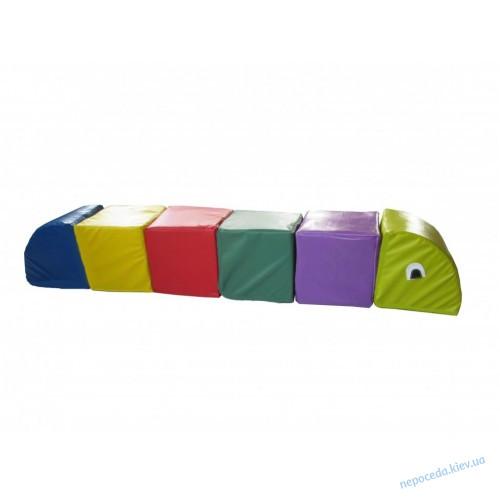 Набор модулей Цветная гусеница 122см