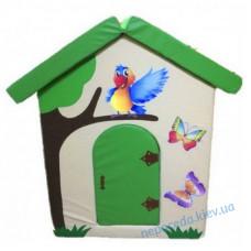 Дитячий м'який будиночок Попугайчик в ігрову кімнату