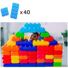 Конструктор из больших блоков 2 видов (40шт) MEGA