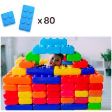 Напольный конструктор из больших блоков 2 видов (80шт) MEGA