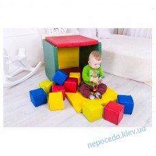 Детский игровой мат Домик с Кубиками