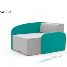 Детское раскладное кресло SMILE бирюзовый