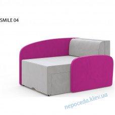 Детское кресло диван SMILE малиновый