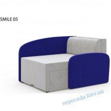 Диван-кресло-кровать раскладной SMILE синий