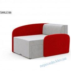 Детское кресло-кровать раскладной SMILE красный