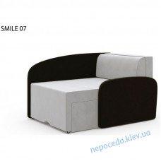 Детское кресло-диван-кровать раскладной SMILE черный