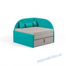 Детский маленький диванчик Малютка бирюзовый