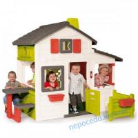 Домик игровой для детей с чердаком и звонком Дуплекс мини Smoby