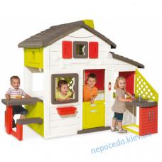 Будиночок ігровий для дітей з горищем і літньою кухнею Smoby
