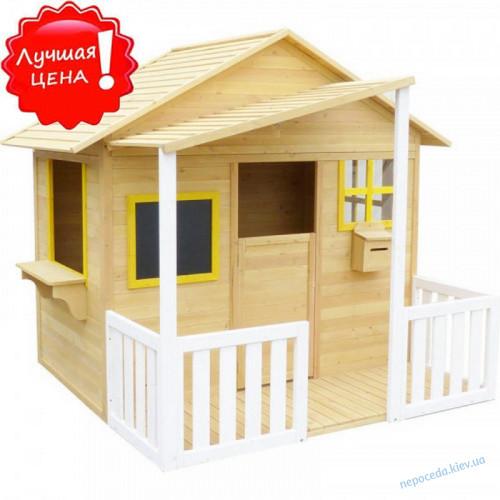 Игровой домик из дерева для детей с навесом (160см)