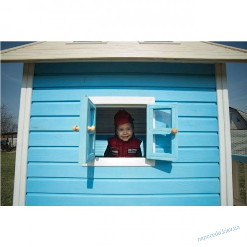 Игровой детский домик деревянный асимметричный