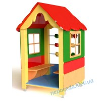Детский домик с лавками и счетами