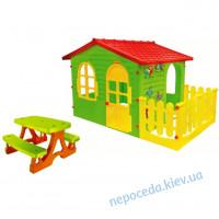 Домик детский игровой +столик с лавочками