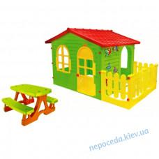 Будиночок дитячий ігровий + столик з лавочками