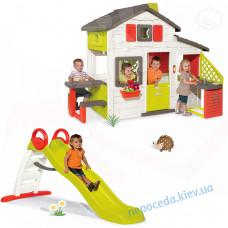 Дитячий будиночок + гірка 185см