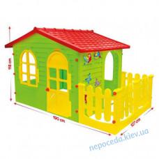 Детский Увеличенный пластиковый игровой домик XXL + заборчик