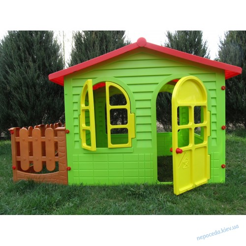 ХХL  Детский домик с заборчиком + большой набор игровой Дантист