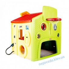 Дитячий ігровий пластиковий будиночок Мультігородок (жовтий)