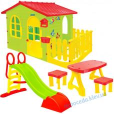 Будиночок для дитини + гірка 187 + столик і табуретки