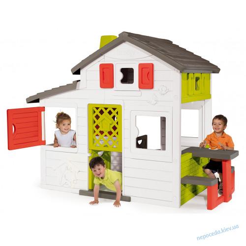 Домик игровой для детей с чердаком и летней кухней Smoby