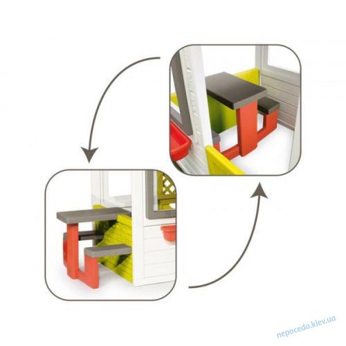 Домик игровой для детей с чердаком и звонком Дуплекс-мини Smoby