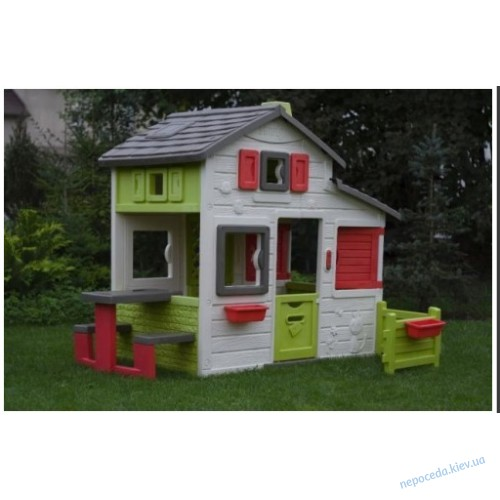 Детский домик Дуплекс мини + горка 2м Smoby