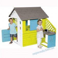 Дитячий будиночок Райдужний з кухнею Smoby
