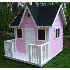 """Домик игровой для детей """"Пинк"""" розовый уличный. Деревянный дом с верандой"""