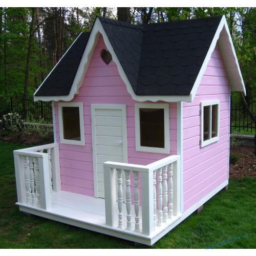 """Детский домик деревянный игровой для детей """"Пинк"""""""