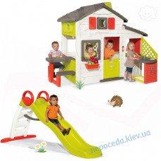 Детский домик + горка 185см