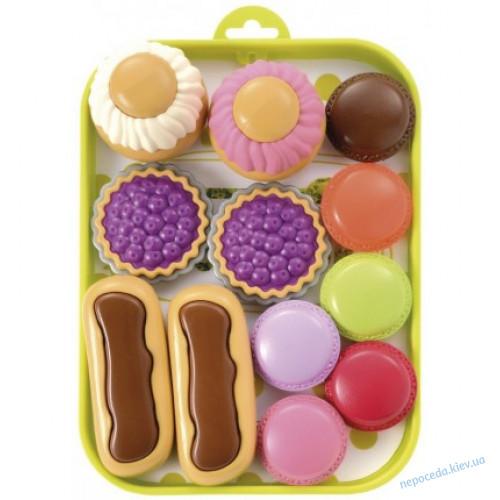 3-в-1  Домик для детей Smoby с летней кухней 127 cм + набор пирожных на подносе
