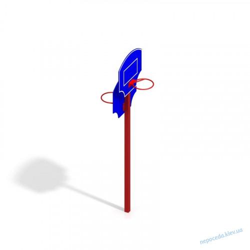 Баскетбольная стойка двухсторонняя для школы