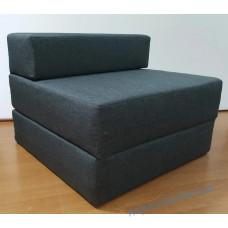 Кресло раскладное, кровать трансформер раскладушка поролоновое бескаркасное односпальное 0,8х1,9м
