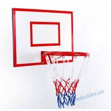 Щит баскетбольный с кольцом 30см и сеткой