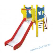 Поляна (0,8) металлическая горка для детских площадок