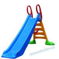 Горка для детей 200см длинная (синяя)