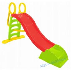 Горка 180см красно-зеленая детская