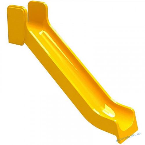 """Спуск горки пластиковый """"Прямой"""" желтый"""