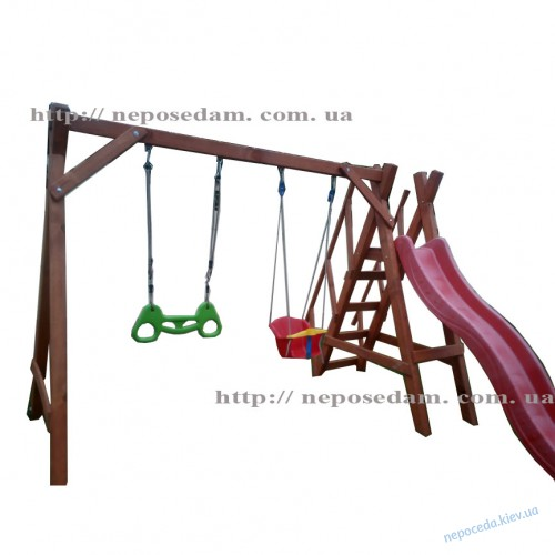 """Горка для улицы """"Дружба-2""""+ перила"""