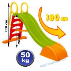 Пластикова гірка довжина спуску 180см