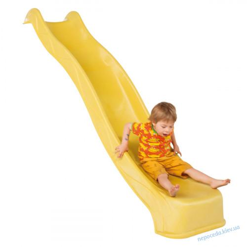 Горка (спуск) пластиковая желтая 3 метра