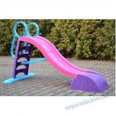 Горка для детей 187см с лесенкой (фиолетовая)