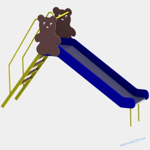Детская горка Медведь + качели балансир 220см уличная