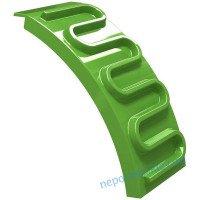 Трапчик пластиковый зеленый