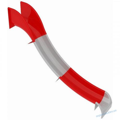 Горка пластиковая бело-красная секционная