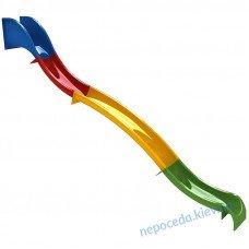 Горка пластиковая разноцветная 720см