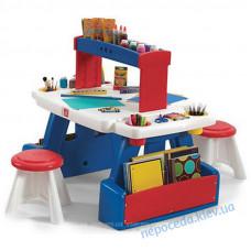 Дитячий стіл з 2 стільцями для творчості Дует