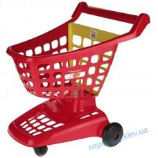 Ігрова візок для супермаркету з рухомою задньою стінкою червона