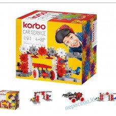 Набор для творческого конструирования Korbo Car service, 119 деталей