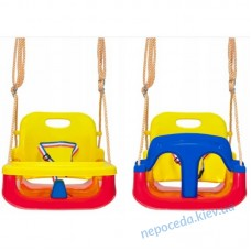 Большие качели для детей 4в1 с защитой и столиком